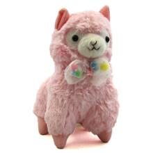 "Pink with Bowtie - 7"" Alpaca Plush"