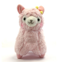 "Pink with Hair Bow - 7"" Alpaca Plush"