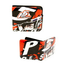 """Persona 5 - Persona 4x5"""" Double BiFold Wallet With Button"""
