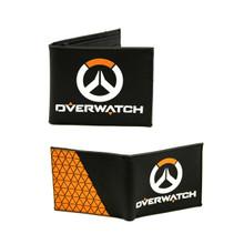 """Black and Orange - Overwatch 4x5"""" BiFold Flat Wallet"""