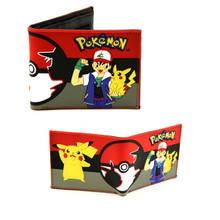"""Ash and Pikachu - Pokemon 4x5"""" BiFold Wallet"""