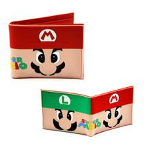 """Mario and Luigi - Super Mario Bros 4x5"""" Rubber Wallet"""