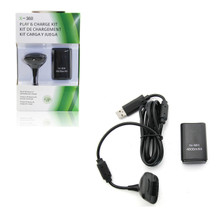 Xbox 360 Play and Charge Pak - Black (Hexir)