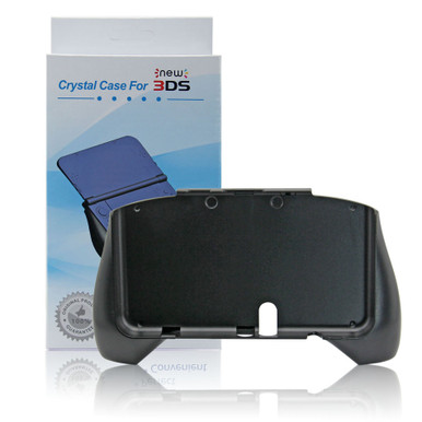 New 3DS Hand Grip Stand Attachment - Black (Hexir)