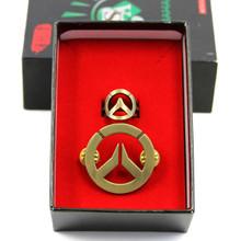 Logo - Overwatch Pin and Ring 2 Pcs. Set