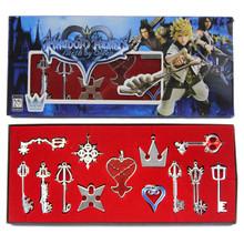 Silver Hearts and Keys - Kingdom Hearts 13 Pcs. Necklace Pendant Set