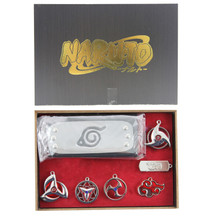 Headband Set - Naruto 7 Pcs. Necklace Pendant & Keychain Set