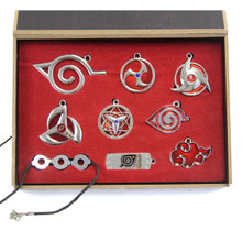Item Symbol Set - Naruto 7 Pcs. Necklace Pendant & Keychain Set