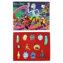 Pins and Pendants - Rick and Morty 12 pcs. Necklace Set