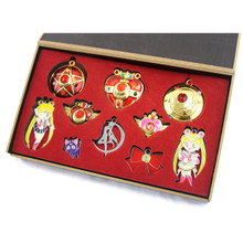 Usagi Set - Sailor Moon Necklace 10 pcs. Pendant & Keychain Set