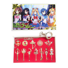 Magic Wands and Small Items Set- Sailor Moon 12 Pcs. Necklace Set
