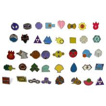 40 Assorted Gym Badges - Pokemon Badge Set