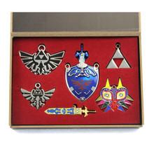 Majora's Mask & Icons - Legend of Zelda 6 Pcs. Necklace Pendant Set