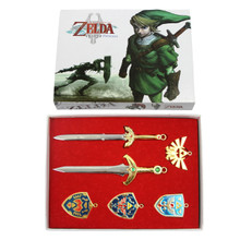 Four and Master Swords - Legend of Zelda 6 Pcs. Necklace Pendant Set