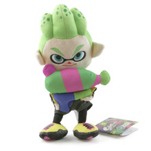 "Inkling Boy Neon Green - Splatoon 9"" Plush (Little Buddy) 1661"