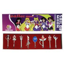 Sailor Senshi Wands and Weapons - Sailor Moon 8 Pcs. Necklace Set