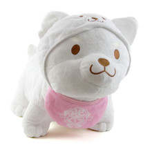 "White Pup, Pink Bib - Shiba Inu 12"" Plush"