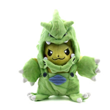 "Pikachu with Tyranitar Hood - Pokemon 8"" Plush"