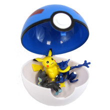 "Large Great Ball with 3 Figures - 4"" Pokemon Blindbox Pokeball"