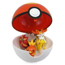"Large Sport Ball with 3 Figures - 4"" Pokemon Blindbox Pokeball"