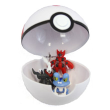 "Large Timer Ball with 3 Figures - 4"" Pokemon Blindbox Pokeball"