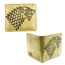 """Stark Sigil Direwolf - Game of Thrones 4x5"""" BiFold Wallet"""