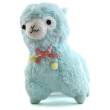 "Blue with Bow - Alpaca 7"" Plush"