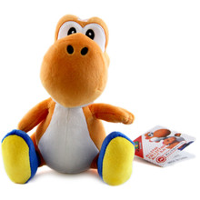 """Orange Yoshi - Super Mario Bros 6"""" Plush (San-Ei) 1390"""
