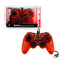 PS3 Wired USB Controller Pad - Clear Red (TTX Tech)