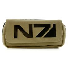 N7 Logo - Mass Effect Tan Clutch Wallet