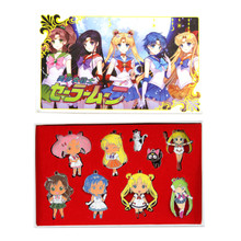 Large Sailors Set - Sailor Moon 9 Pcs. Necklace Set
