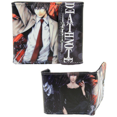 """Light - Death Note 4x5"""" BiFold Wallet With Flap"""