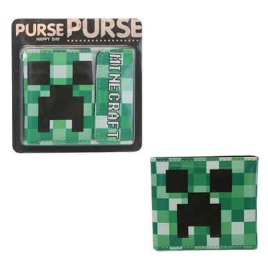 """Creeper - Minecraft 4x5"""" BiFold Wallet With Flap"""