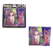 """Link & Mask of Truth - The Legend of Zelda Majora's Mask 4x5"""" BiFold Wallet With Button"""