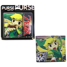 "Link - The Legend of Zelda Wind Waker 4x5"" BiFold Wallet With Flap"