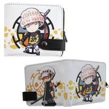 "Chibi Trafalgar Law - One Piece 4x5"" BiFold Wallet With Button"