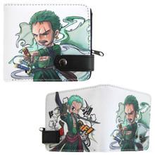 """Chibi Roronoa Zoro - One Piece 4x5"""" BiFold Wallet With Button"""