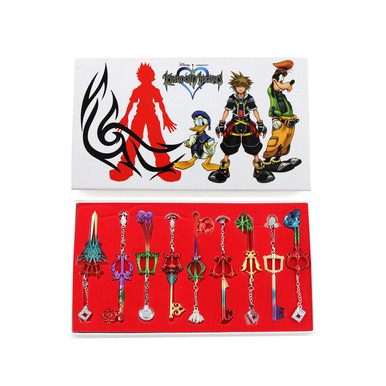 Keyblade Set - Kingdom Hearts 9 Pcs. Keyblade Keychains