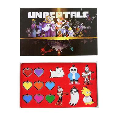 Undertale Hearts - Undertale 14 Pcs. Pendant & Keychain Set
