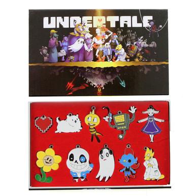 Undertale Monsters - Undertale 10 Pcs. Pendant & Keychain Set