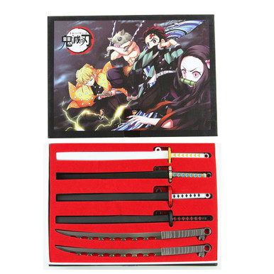 Sword Set - Demon Slayer Kimetsu 6 Pcs. Keychain Set