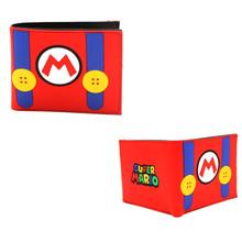 "Mario Overall - Super Mario Bros 4x5"" BiFold Flat Wallet"