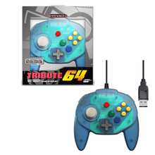 Nintendo 64 USB Tribute Controller - Blue (RetroBit) RB-PC-0819