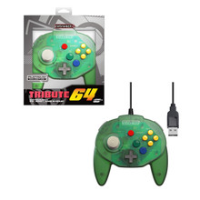 Nintendo 64 USB Tribute Controller - Green (RetroBit) RB-PC-0796