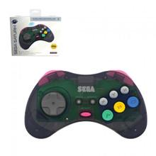 Sega Saturn Wireless Controller Pad Clear Slate Grey (Retro-Bit)