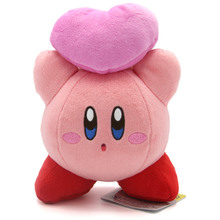 "Kirby with Friends Heart - Kirby Adventures Small 6"" Plush (San-Ei)"