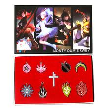 Charms Set - RWBY 9 Pcs. Necklace Pendant & Keychain Set