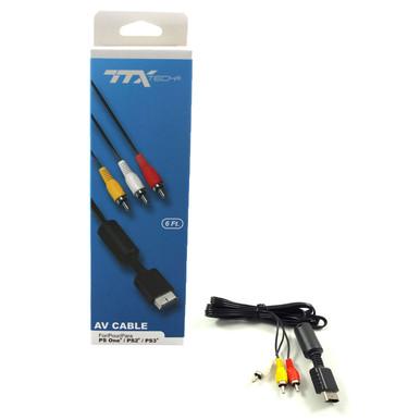 PS3 Audio Video AV Cable - PS1 PS2 Compatible (TTX Tech) NXP2-2615