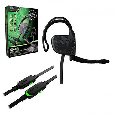 Xbox 360 EX-03 Inline Messenger Wired Gaming Headset (Gioteck)