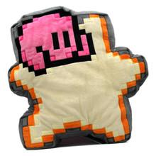 "Kirby 8 Bit Star - Kirby 14"" Plush Pillow (San Ei) 1637"